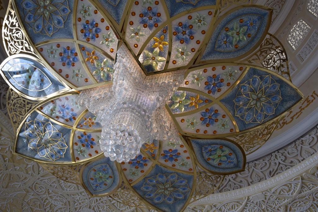 Kronleuchter aus Swarovskikristallen, Sheikh-Zayed-Moschee