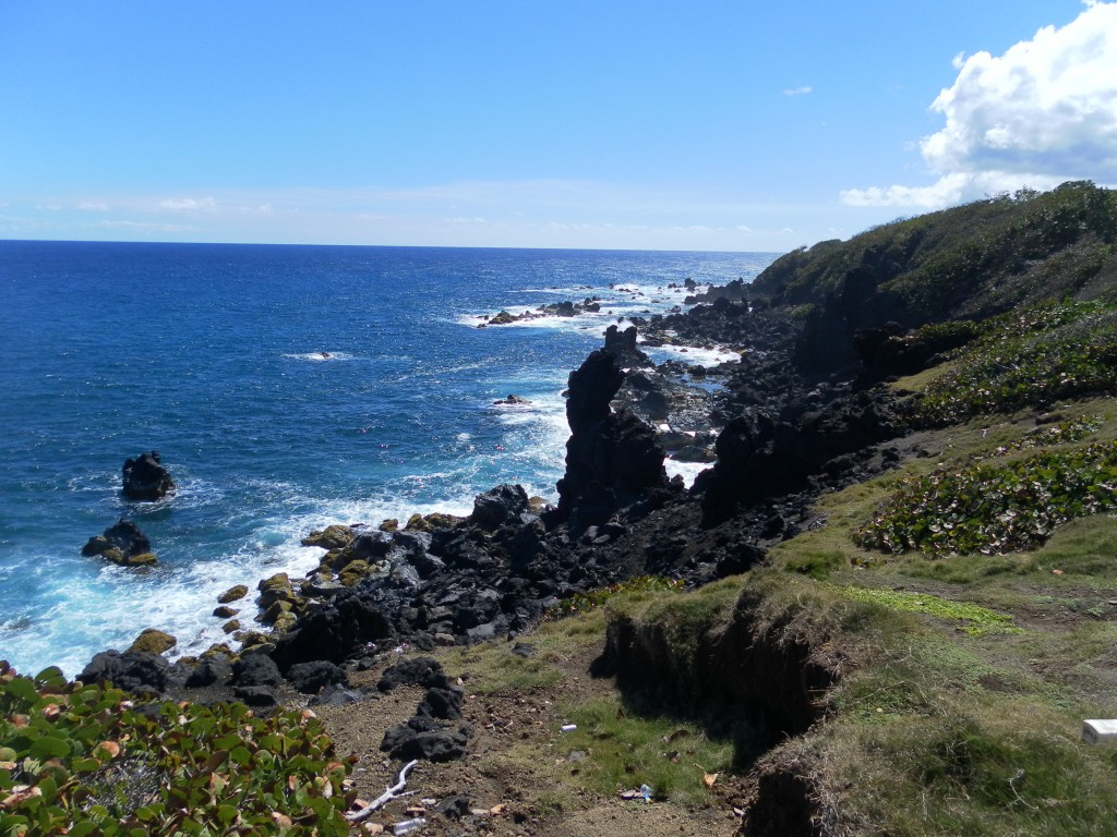 AIDA Karibik - Basseterre - Ausflug, Ausblick auf die Atlantikseite von Basseterre